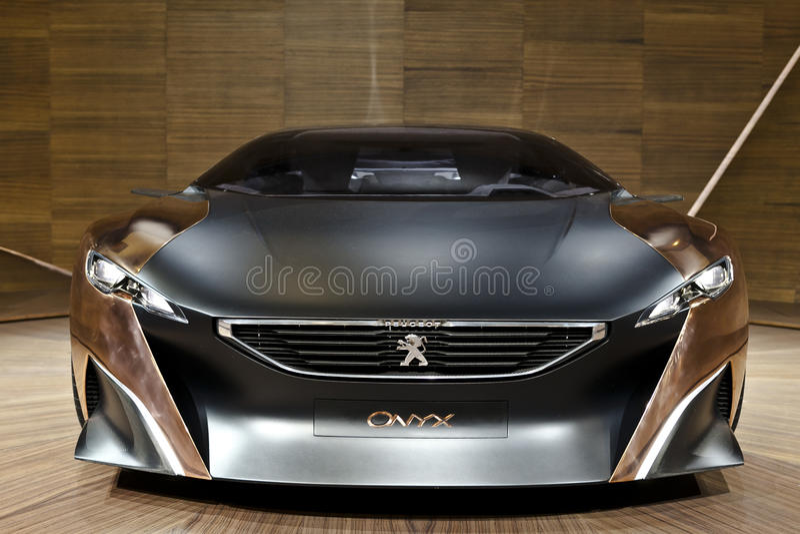 Onyx de Peugeot imagens de stock royalty free