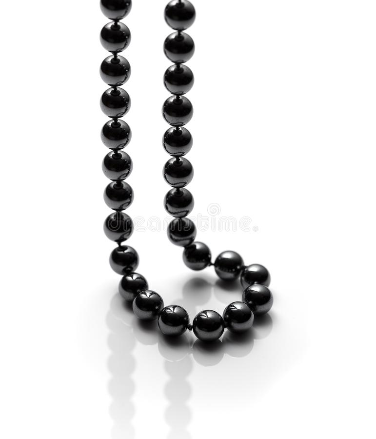 Black bead necklace stock images