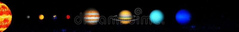 Onze acht planeten van het zonnestelsel stock foto