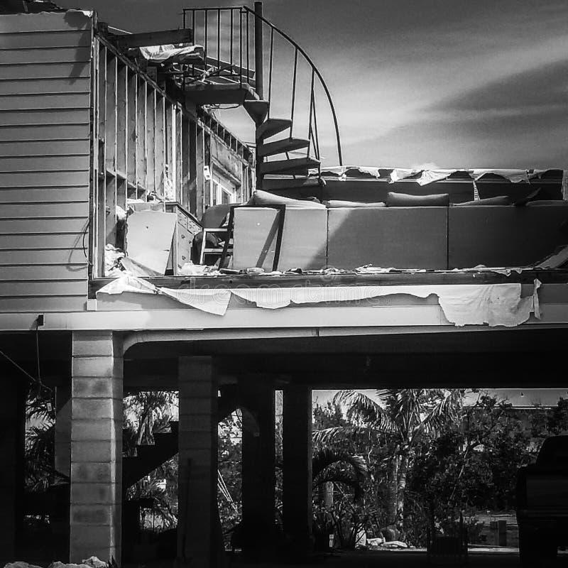 Onze Bkock na Orkaan Irma stock fotografie