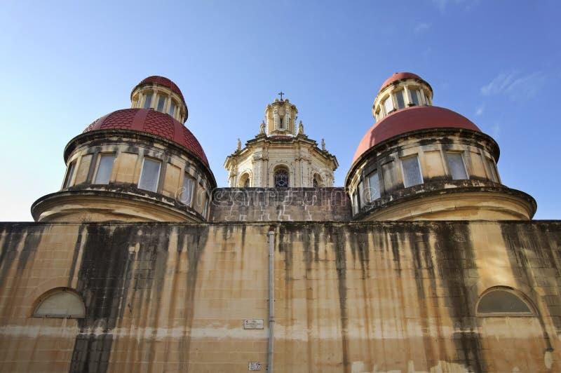 Onze Dame van de Heilige Kerk van de Hartparochie in Sliema (tas-Sliema) Het eiland van Malta stock afbeeldingen
