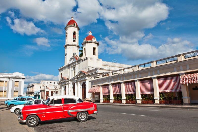 Onze Dame van de Onbevlekte Ontvangeniskathedraal, Cienfuegos, Cuba stock foto's