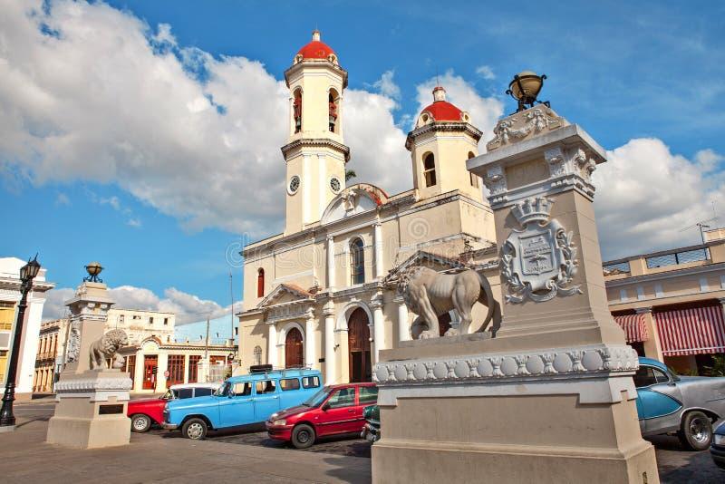 Onze Dame van de Onbevlekte Ontvangeniskathedraal, Cienfuegos, Cuba royalty-vrije stock foto's