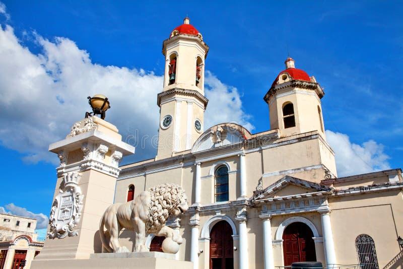 Onze Dame van de Onbevlekte Ontvangeniskathedraal, Cienfuegos, Cuba royalty-vrije stock foto