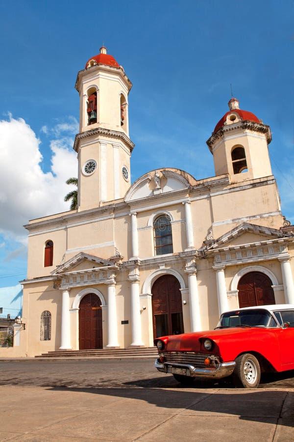 Onze Dame van de Onbevlekte Ontvangeniskathedraal, Cienfuegos, Cuba royalty-vrije stock fotografie