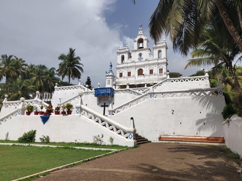 Onze Dame van de Onbevlekte Ontvangeniskerk, Goa royalty-vrije stock foto