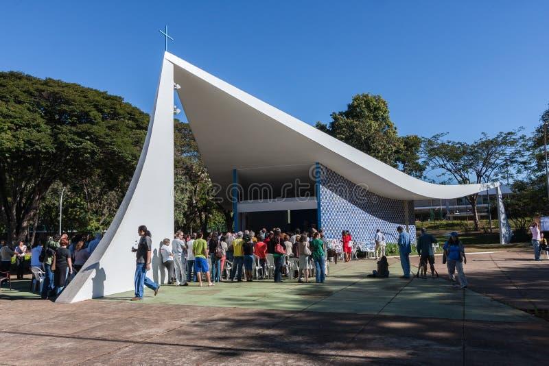 Onze Dame van Fatima Church - Brasilia stock fotografie