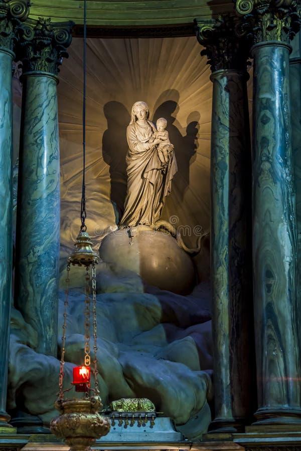 Onze Dame van kerk van heilige-Sulpice royalty-vrije stock afbeelding