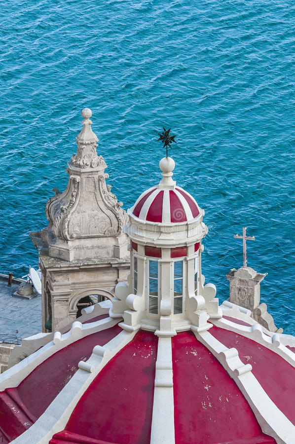 Onze Dame van Liasse in Valletta, Malta royalty-vrije stock fotografie