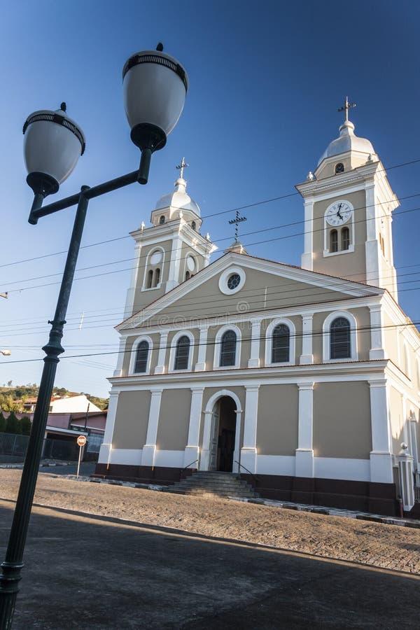 Onze Dame van Rosario Church Amparo Sao Paulo Brazilië stock afbeeldingen