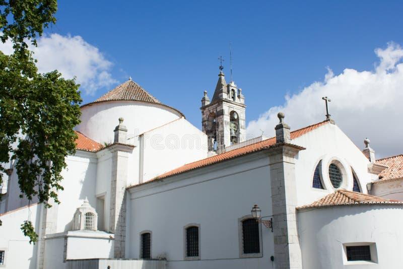 Onze Dame van Rozentuinkerk in S Domingos de Benfica-gebied, Lissabon, Lissabon, Portugal stock foto