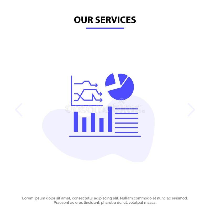 Onze de Dienstengrafiek, Succes, Stroomschema, de kaartmalplaatje Pictogramweb van het het Bedrijfs Stevig van Glyph vector illustratie