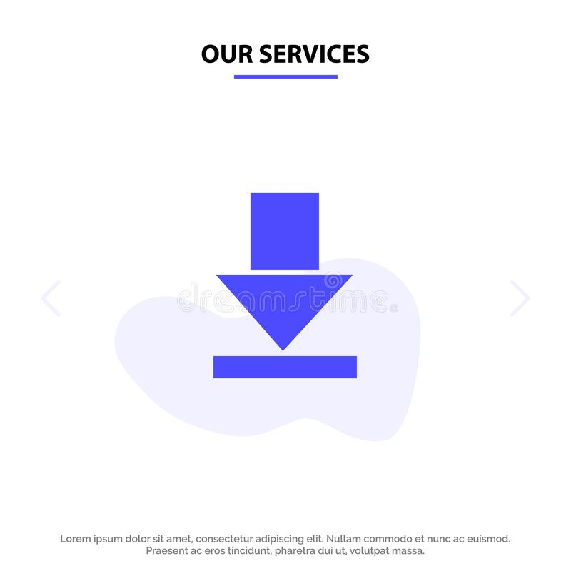 Onze de Dienstenpijl, Dawn, van het het Pictogramweb van Download Stevig Glyph de kaartmalplaatje royalty-vrije illustratie