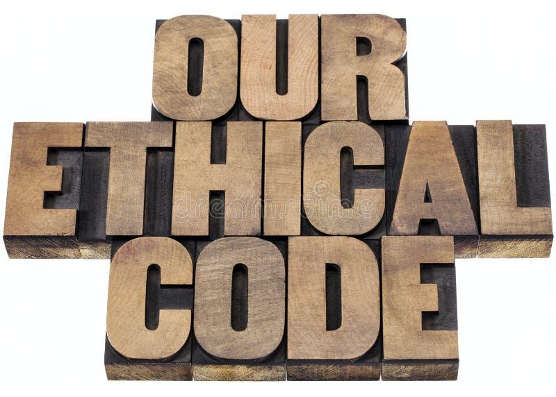 Onze ethische code stock foto