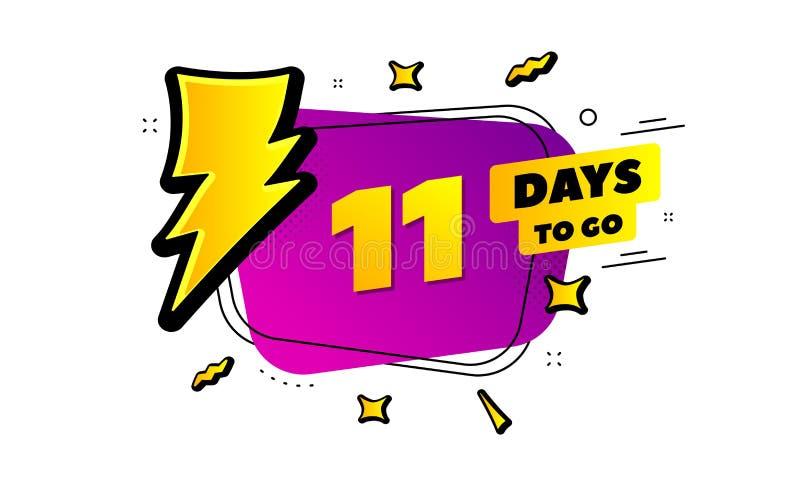 Onze jours ont laissé l'icône 11 jours à aller Vecteur illustration libre de droits