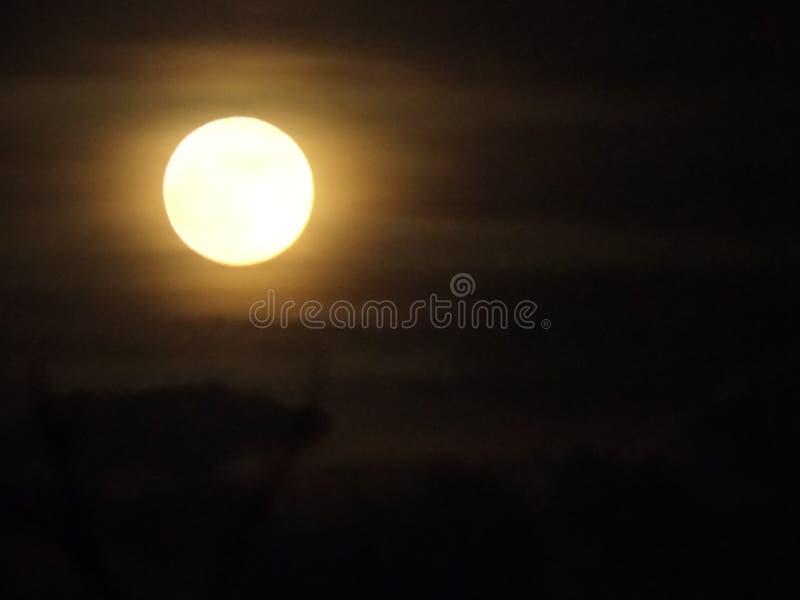 Onze maan vanavond royalty-vrije stock afbeelding