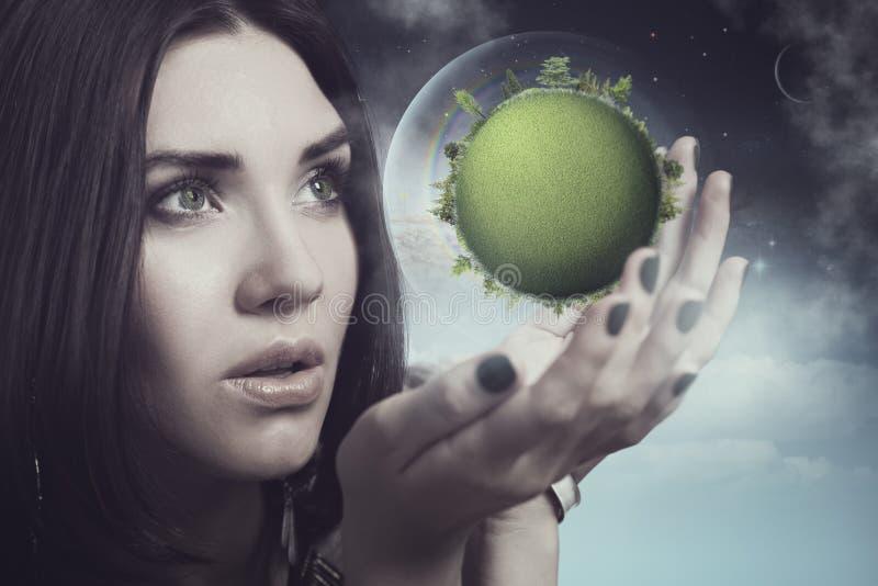 Onze toekomst is in menselijke handen stock fotografie