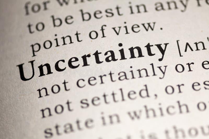onzekerheid royalty-vrije stock afbeelding