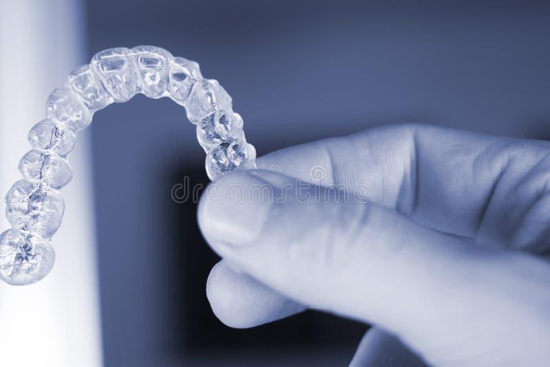 Onzichtbare tandtandenaligners stock foto's