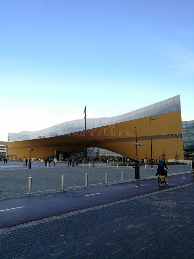 Oodi library Helsinki Finland frontside stock image