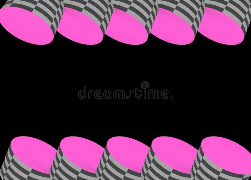Oog die Heldere Roze vangen en Geruit stock foto's