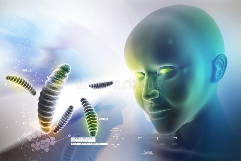 Oog die tegen bacteri vooruitzien stock foto