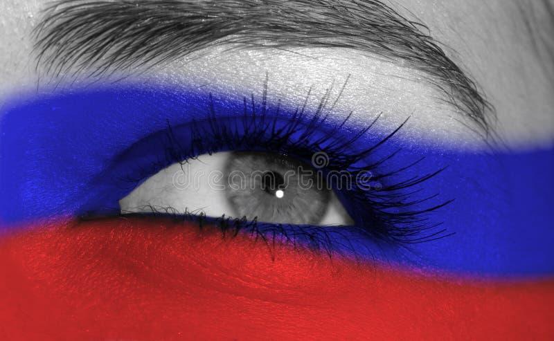 Oog met vlag stock fotografie