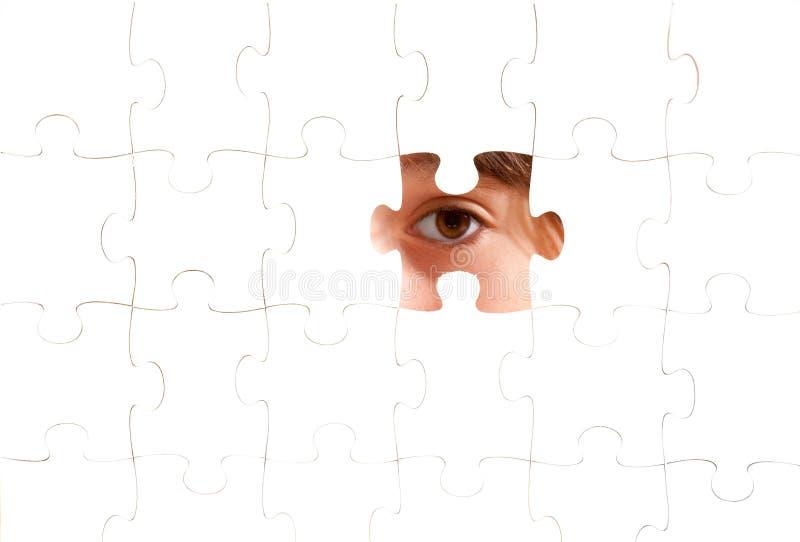 Download Oog Op Een Raadsel Royalty-vrije Stock Afbeeldingen - Afbeelding: 21405689
