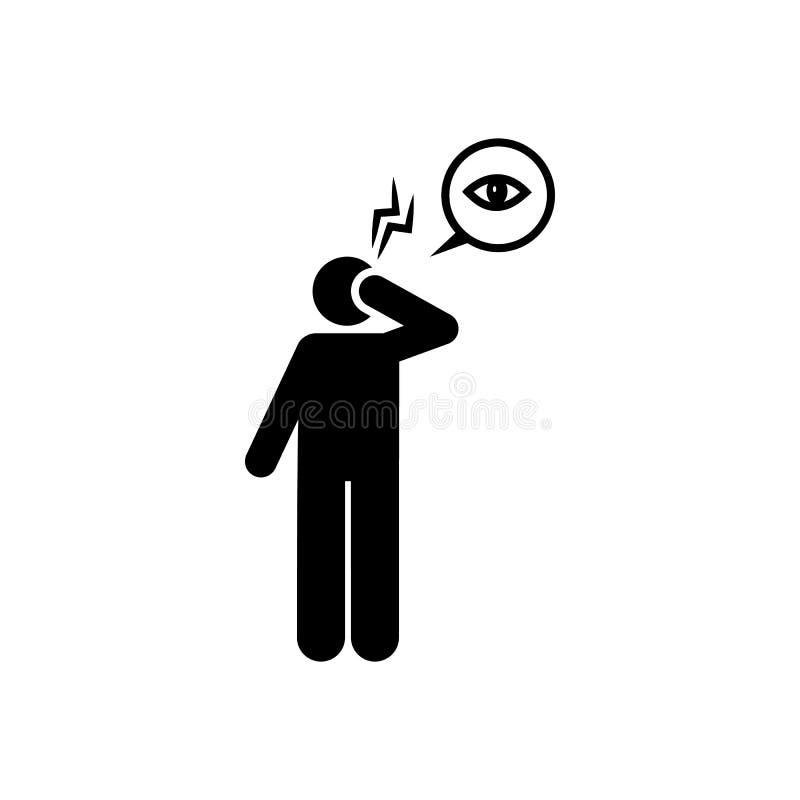 Oog, pijn, probleempictogram Element van aedes mug en knokkelkoortspictogram Grafisch het ontwerppictogram van de premiekwaliteit stock illustratie