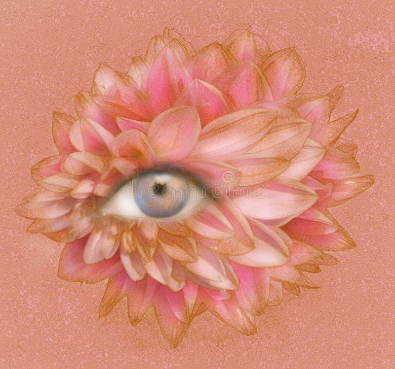 Oog van Bloemblaadjes royalty-vrije illustratie