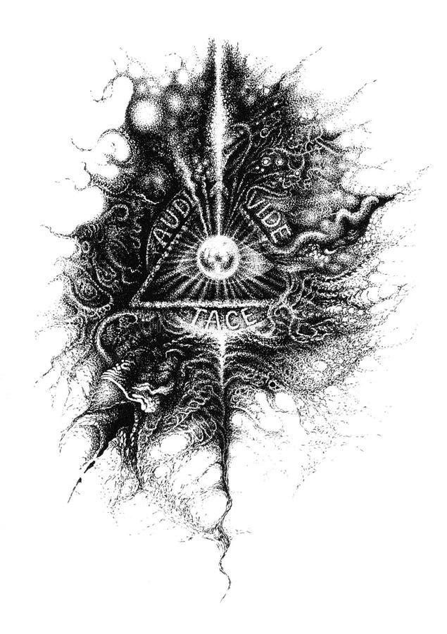 Oog van God vector illustratie