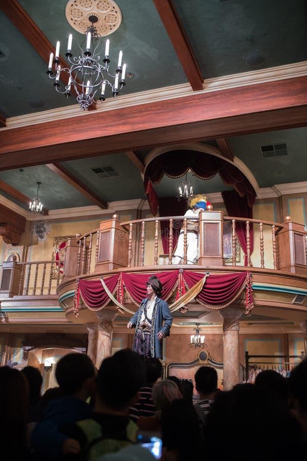 Oog van het Onweer: KapiteinsJackâ €™s Stunt Spectaculair in Shanghai Disneyland royalty-vrije stock foto's