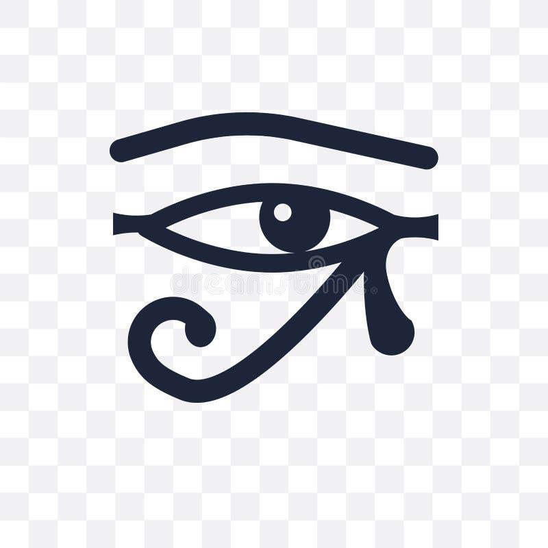 Oog van het transparante pictogram van Ra Oog van Ra-symboolontwerp van Religio vector illustratie
