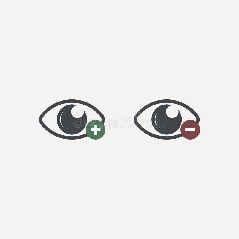 Oog Vectorpictogram Open oogpictogram, het oog van beholder Het pictogram van het Webontwerp Symbool van het menselijke oog stock illustratie