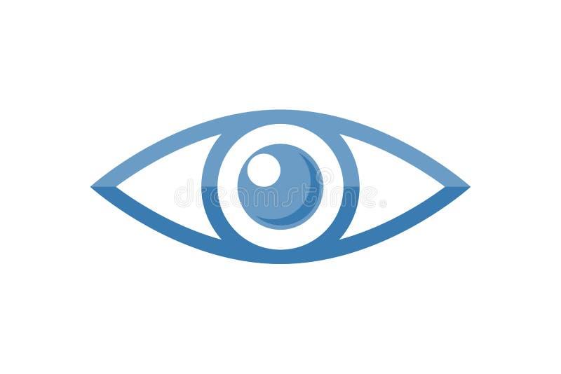 Oogembleem voor de vectorillustratie van de oftalmologiekliniek royalty-vrije illustratie