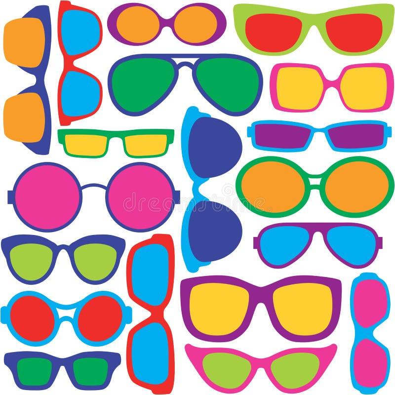 Oogglazenpatroon vector illustratie