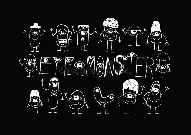 Oogmonster royalty-vrije illustratie