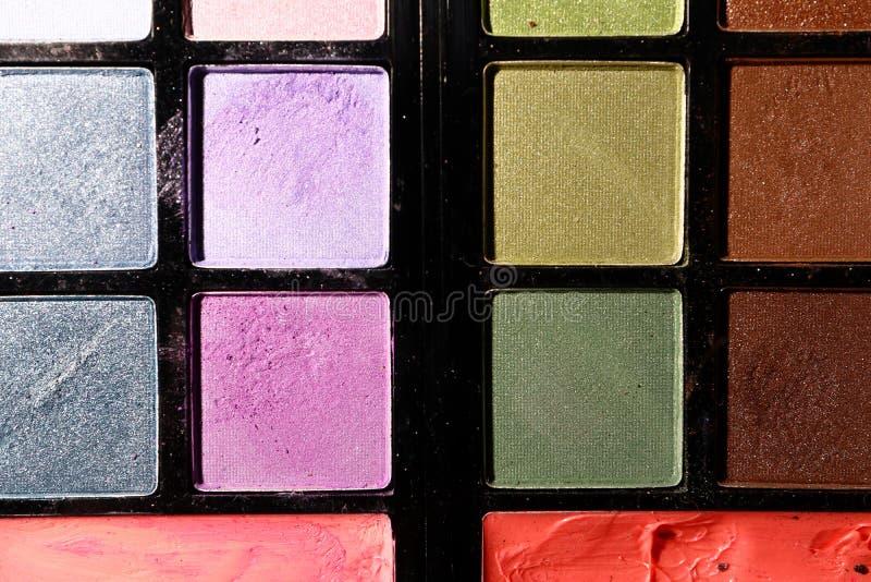 Download Oogschaduw Op Een Zwarte Achtergrond Sluit Omhoog Stock Afbeelding - Afbeelding bestaande uit makeup, macro: 114227109