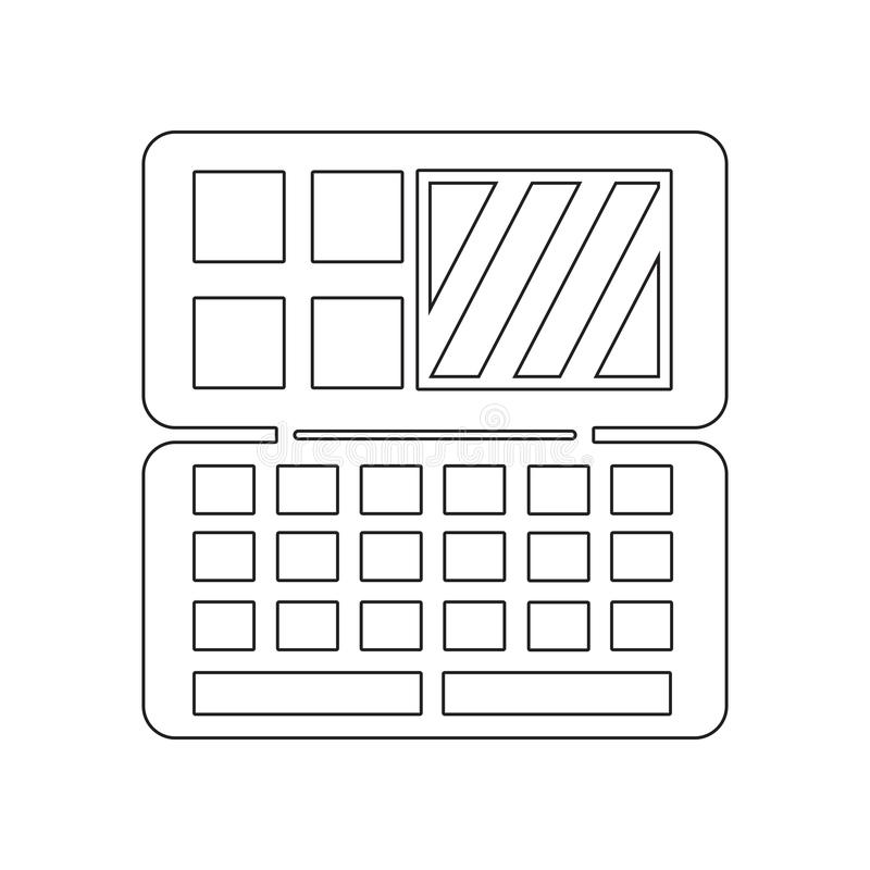 Oogschaduwpictogram Element van Schoonheidssalon voor mobiel concept en webtoepassingenpictogram Overzicht, dun lijnpictogram voo stock illustratie