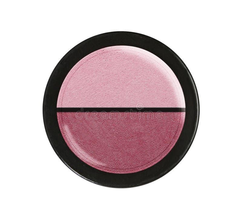 Oogschaduwwen Kosmetisch Product Plastic geval stock afbeeldingen