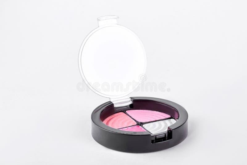 Oogschaduwwen van roze kleur royalty-vrije stock afbeelding