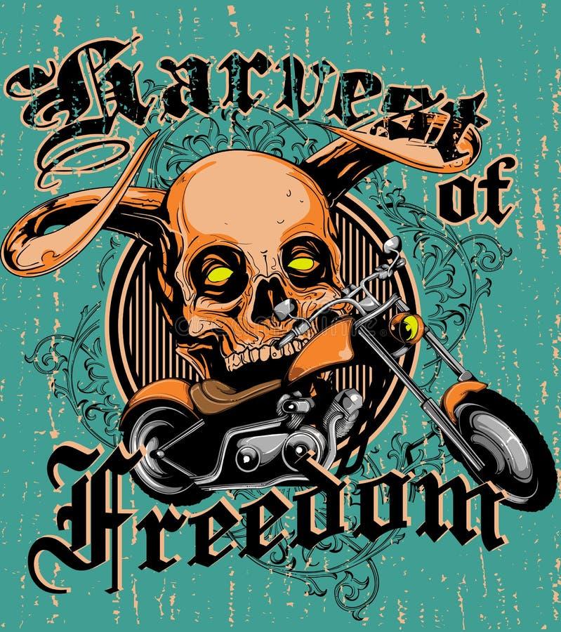 Oogst van vrijheid stock illustratie