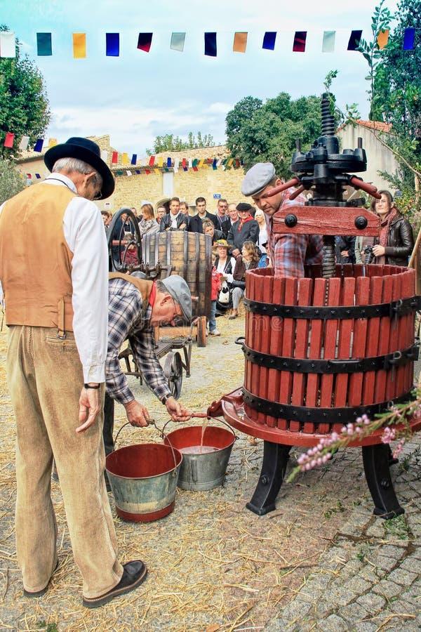 Oogstende druiven: festival van de druivenoogst stock fotografie