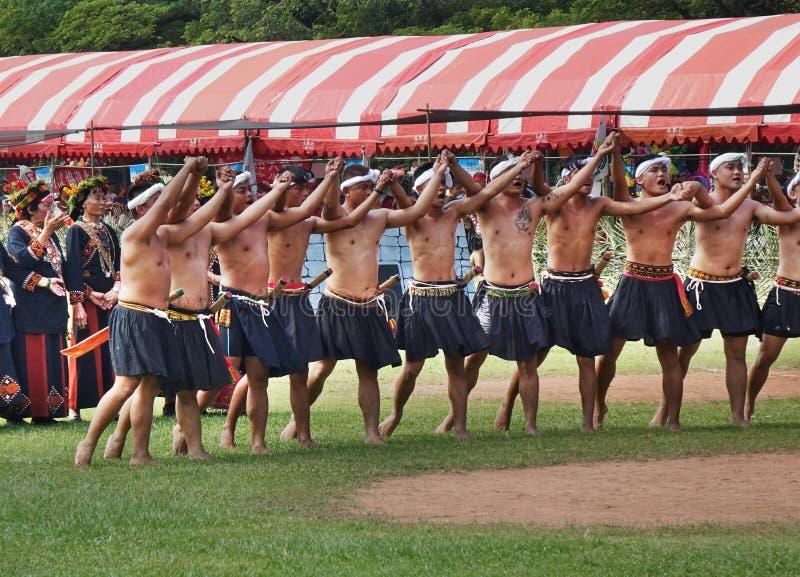 Oogstfestival van het Rukai-volk in Taiwan royalty-vrije stock foto