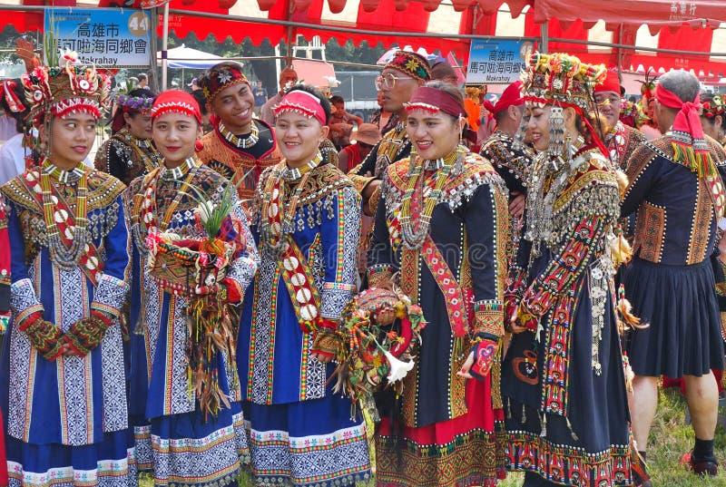 Oogstfestival van het Rukai-volk in Taiwan stock foto