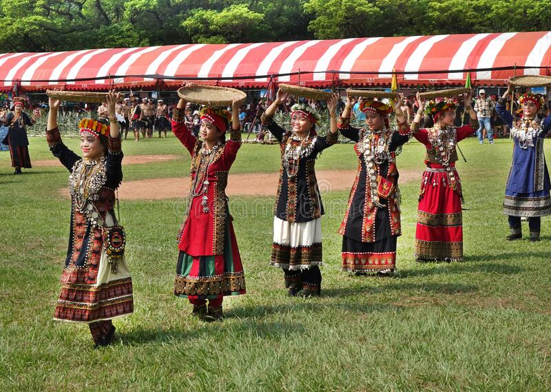 Oogstfestival van het Rukai-volk in Taiwan royalty-vrije stock fotografie
