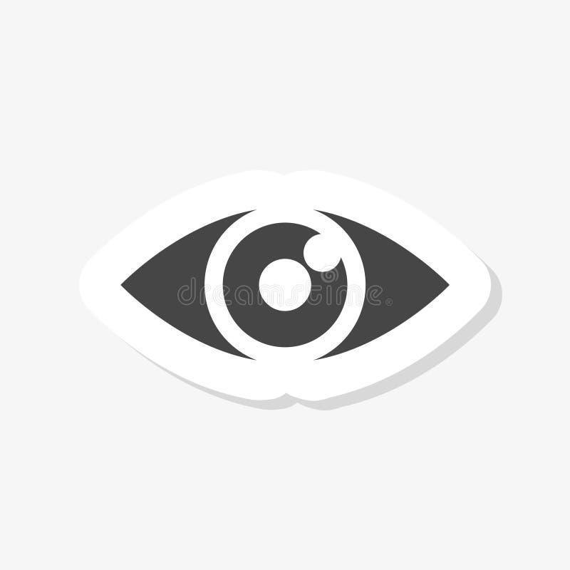 Oogsticker, het Beeld van het Oogpictogram, Oog in moderne vlakke stijl voor Web vector illustratie