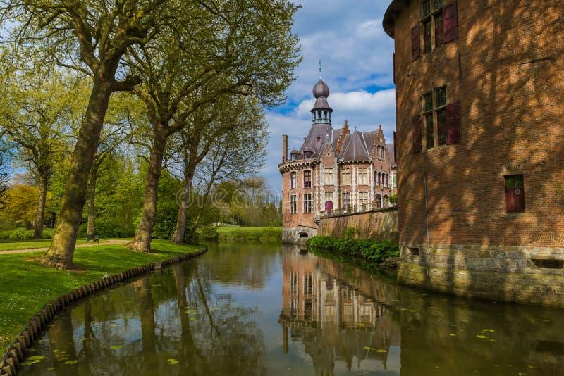 Ooidonk Castle στο Βέλγιο στοκ φωτογραφία
