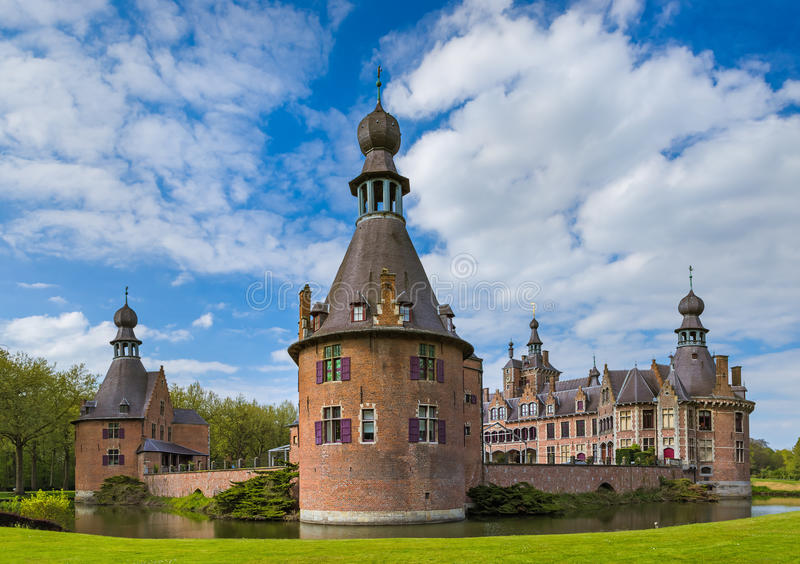 Ooidonk Castle in Belgium stock photos