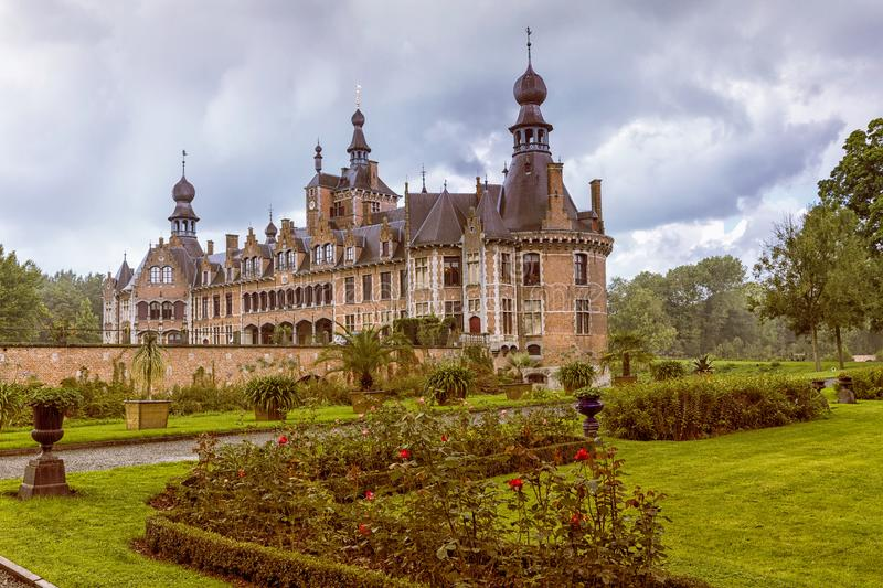 Ooidonk medieval castle royalty free stock image